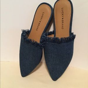 (Lucky Brand) size 8 1/2 M denim mules new